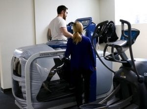 Alter G anti-gravity treadmill rehabilitation post-surgery