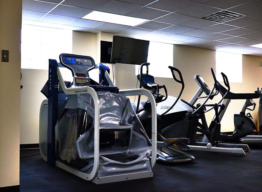 Anti-Gravity Treadmill for rapid recovery from a sports injury