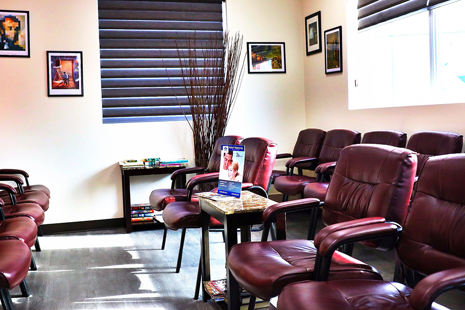 Clinic reception and waiting room