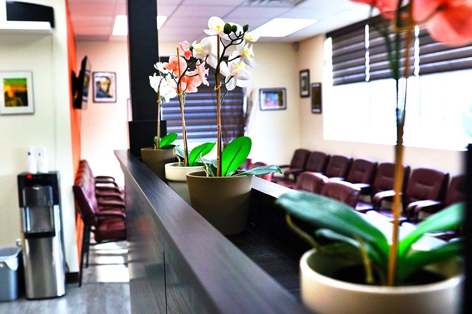 Clinic waiting room