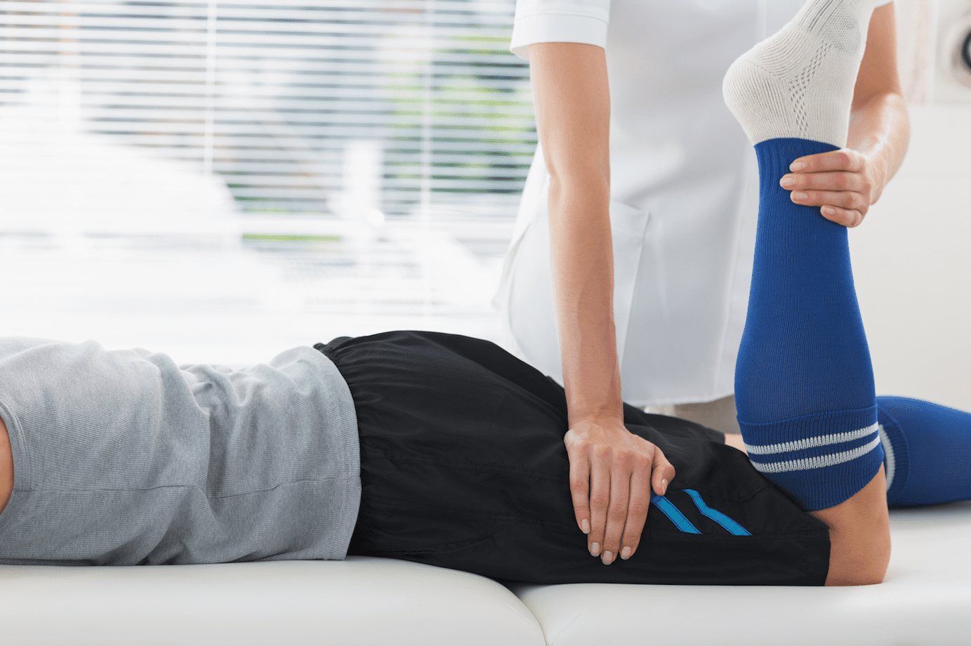 Man getting physiotherapy treatment