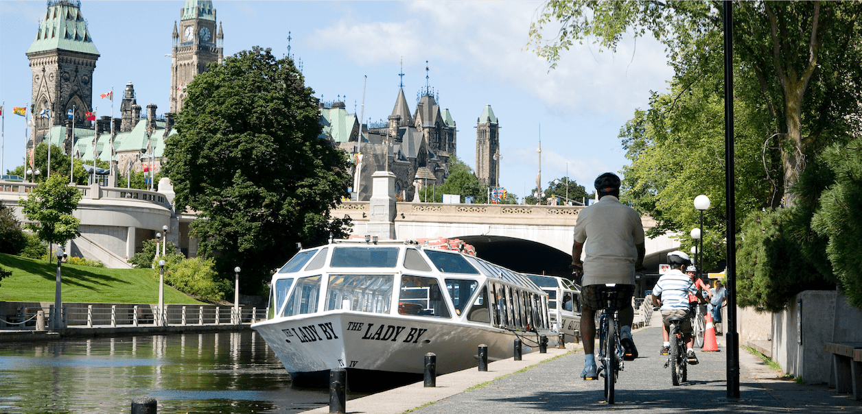 rideau-canal-cyclists 4 Reasons Why Rideau Canal is the Best Place to Run